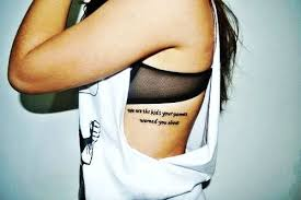 black quote tattoos for ribs