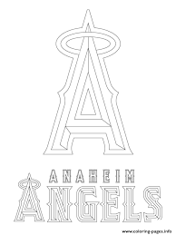 san francisco giants coloring pages anaheim angels logo mlb baseball sport coloring pages printable