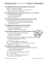 helping verbs teachervision