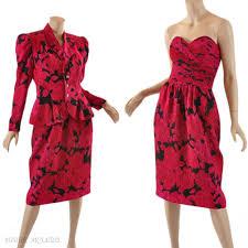 1980s strapless dress u0026 peplum jacket rickie freeman teri