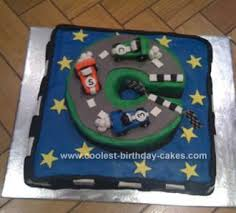 coolest racing car track birthday cake