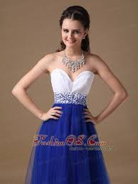 white and royal blue sweetheart prom dress floor length 137 59