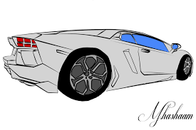 lamborghini aventador drawing outline lamborghini drawing side view lamborghini aventador side view by