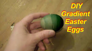 how to dye easter eggs with food coloring in gradient youtube