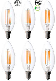 Fancy Chandelier Light Bulbs 6 Pack Bioluz Led Filament Candelabra Clear Led Bulbs E12 Base