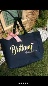 personalized bags for bridesmaids 25 best tote bag canvas bridesmaid gift wedding favor