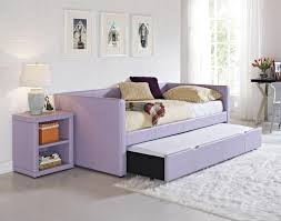 Daybed With Pop Up Trundle Ikea Soft Gray Leather Bed With Trundle Also White Bedding Sheet Placed