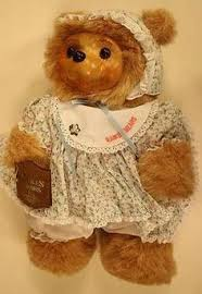 wooden faced teddy bears robert raikes wooden faced white fur sally limited edition