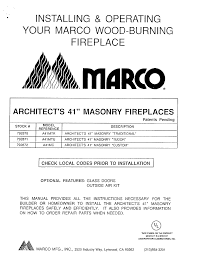 marco wood burning fireplace manual best fireplace 2017
