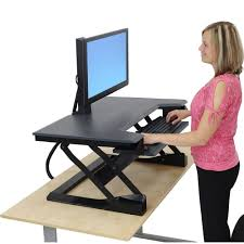 Stand Up Desk Conversion Kit by Desk Sit To Stand Desk Converter Regarding Charming Standing