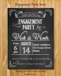 Engagement Party Invites Engagement Party Invitation Printable Custom Chalkboard Invite