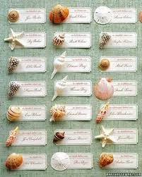 where to buy seashells wedding place cards hawaii with hibiscus flower in