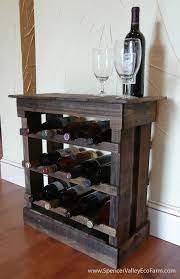 dark pallet wood 12 bottle wine rack floor or counter top rustic