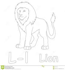 l for lion coloring page stock illustration image 39701551