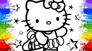 colouring hello kitty crayola giant coloring book page paint
