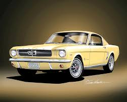 1965 yellow mustang 1965 1966 mustang prints posters by danny whitfield