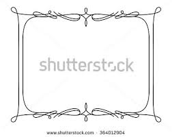 calligraphic square frame simple frame ornament stock vector