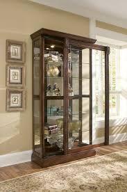 curio cabinet curioabinet pulaski half round best dining room