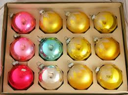 vintage ornaments shiny brite corning glass balls from grandmas tree