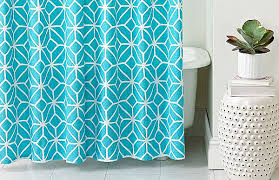 Turquoise Shower Curtain More Modern Shower Curtain Finds For A Stylish Powder Room