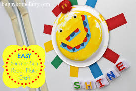 easy summer sun paper plate craft happy home fairy