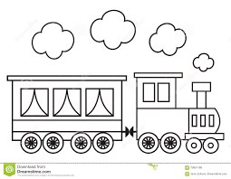 locomotive coloring book stock vector image 70901198