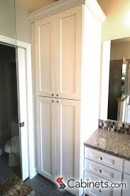 Shaker Bathroom Vanity Cabinets by Large Linen Cabinet Next To Bathroom Vanity Cabinets Shown Are