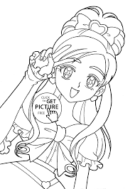 coloring pages of anime characters pretty cure characters anime