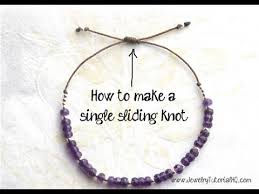 tie knot leather necklace images How to make a sliding knot single knot jewelry making tutorial jpg