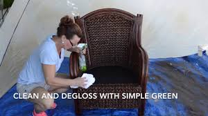 How To Restore Wicker Patio Furniture by How To Paint Wicker Furniture With A Paint Sprayer Youtube