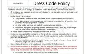 dress code policy template dress code wikipedia warning letter