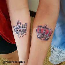 40 king u0026 queen tattoos that will instantly make your relationship