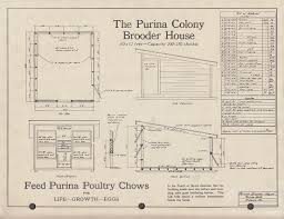 Shelter House Plans Purina Brooder House U0026 Range Shelter Plans Folder 1944