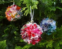 ornament tutorial fabric eco pompon topiary christmas tree