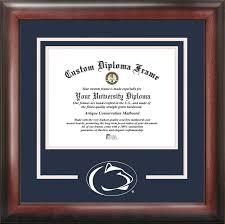 diploma frame size pennsylvania state spirit diploma frame spirit