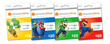 nintendo gift card built in software wii u from nintendo system software