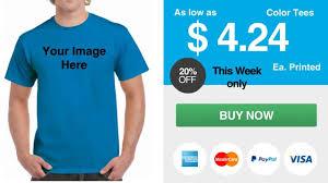 gildan 5000 cheap custom screen printing t shirts