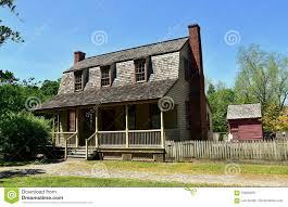 gambrel roof house bath nc 1790 van der veer dutch colonial house editorial stock