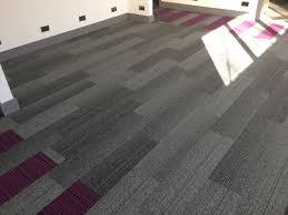 Carpet Tiles by Grade U0027 Carpet Tile Planks From Burmatex Colour Smoke Installed
