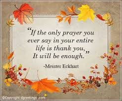 if the only prayer thanksgiving quotes cards
