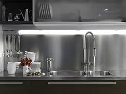 white kitchen cabinets with stainless steel backsplash stainless steel kitchen back splash metal supermarkets