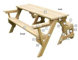 kirby built picnic tables folding picnic table schematics pinteres