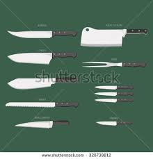 vector clip art types kitchen knives stock vector 327261317