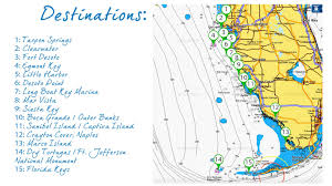 West Coast Of Florida Map by Destinations