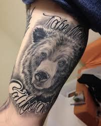 beautiful california bear tattoo creativefan