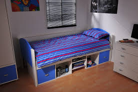 stompa solo 2 single bed rainbow wood