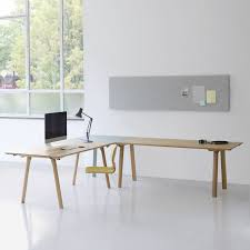 Modular Desk Components by Modular Desk Workstation Wooden Contemporary Rail By