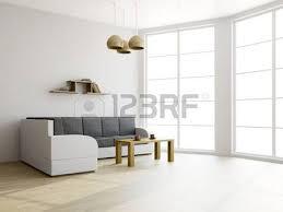 the livingroom brown sofa in a vintage living room rendering stock photo