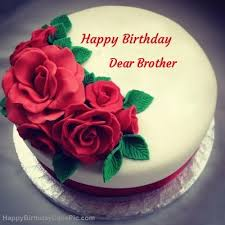 roses birthday cake for dear brother