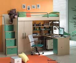 teenage bunk bed with desk charming wood loft beds for teens with